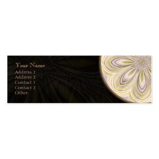 Mandala Waning dourada - cartão de visita do