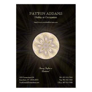 Mandala Waning dourada - cartão de visita vertical