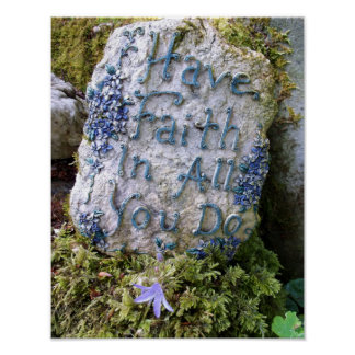 Mande a fé em tudo você fazer a mensagem inspirada poster