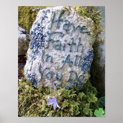 Mande a fé em tudo você fazer a mensagem inspirada impressão