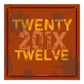 Mande um partido da véspera de Ano Novo do Grunge Convites Personalizados