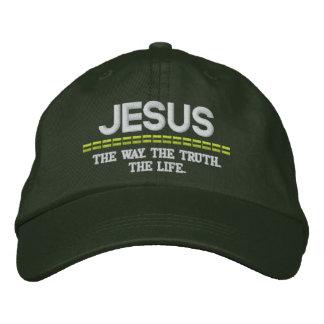 Maneira de JESUS-. A verdade. O chapéu ajustável Boné Bordado