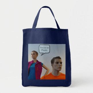 Manequins plásticos sacola tote de mercado