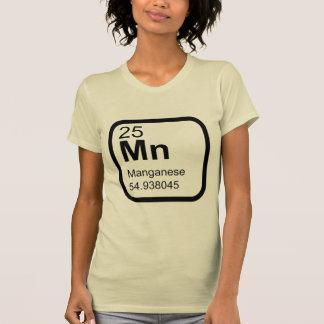 Manganês - design da ciência da mesa periódica camiseta