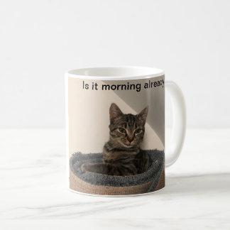 Manhã já? Caneca do gatinho