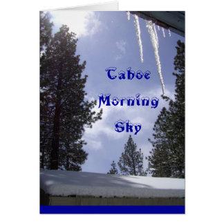 Manhã Sun de Tahoe cartão do céu