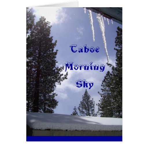Manhã Sun de Tahoe & cartão do céu