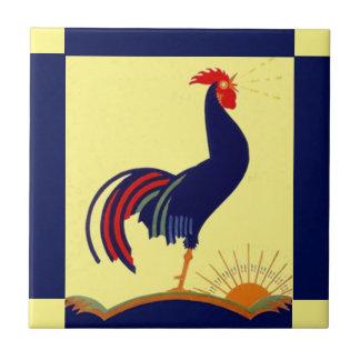 Manhã Sun do corvo do galo da arte popular do
