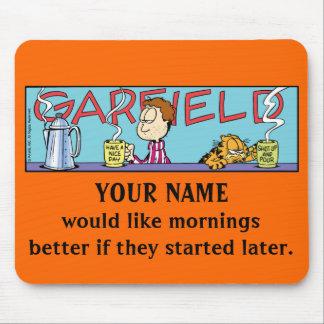 Manhãs Mousepad de Garfield Logobox