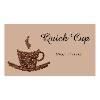 Mania do café cartão de visita