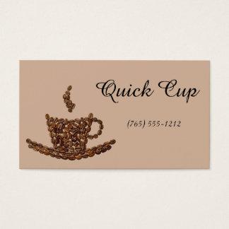 Mania do café cartão de visitas