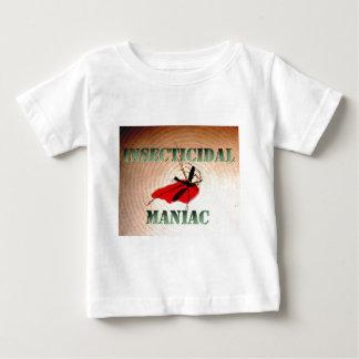 Maniac insecticida (texto esverdeado) camisetas