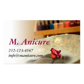 manicure cartões de visita