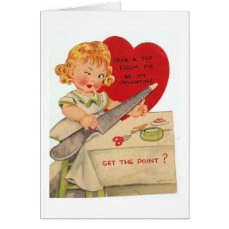 Manicure dos namorados cartão comemorativo