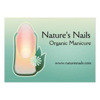Manicure orgânico das unhas da natureza modelos cartao de visita