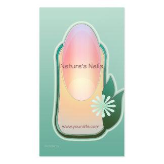 Manicure orgânico das unhas da natureza cartão de visita