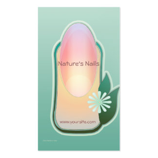 Manicure orgânico das unhas da natureza cartao de visita