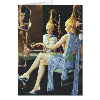 Manicures do salão de beleza dos termas da ficção cartão comemorativo