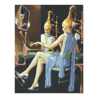 Manicures do salão de beleza dos termas da ficção convite personalizados