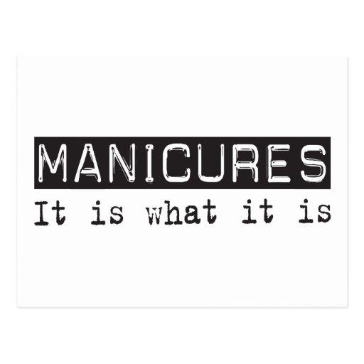 Manicures é cartões postais