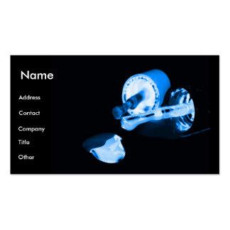 Manicuro em preto & no azul cartão de visita