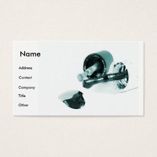 Manicuro em preto & no branco cartão de visitas
