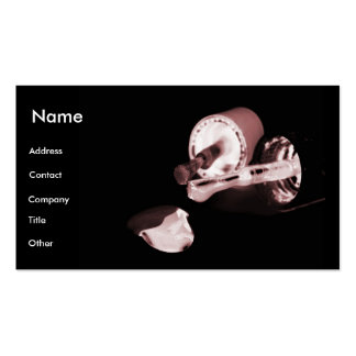 Manicuro em preto & no branco mim cartão de visita