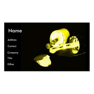 Manicuro no preto & no amarelo cartão de visita