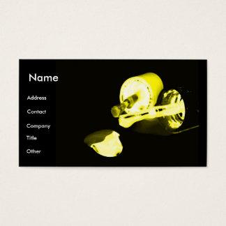 Manicuro no preto & no amarelo cartão de visitas