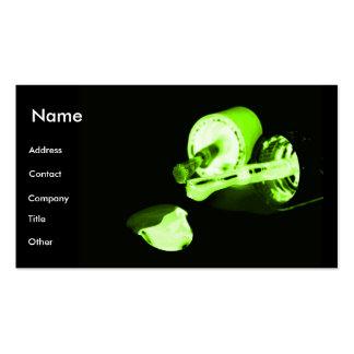 Manicuro no preto & no verde cartão de visita