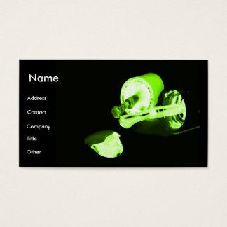 Manicuro no preto & no verde cartão de visitas