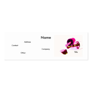Manicuro no rosa cartão de visita skinny