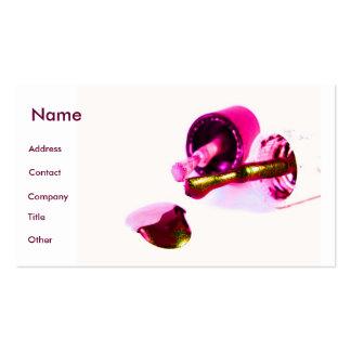 Manicuro no rosa cartão de visita