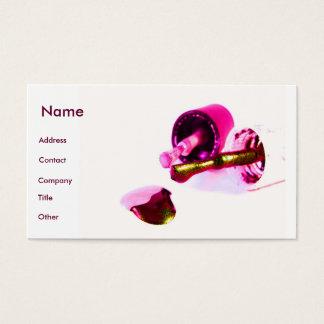 Manicuro no rosa cartão de visitas