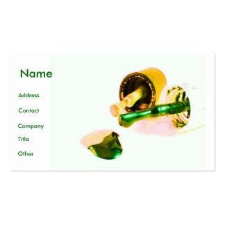 Manicuro no verde & no ouro cartão de visita