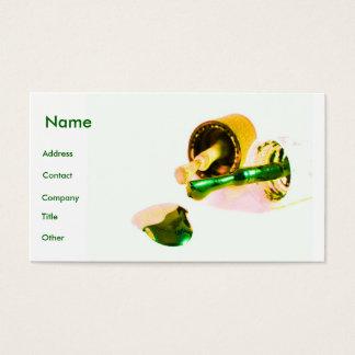 Manicuro no verde & no ouro cartão de visitas