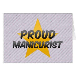 Manicuro orgulhoso cartoes