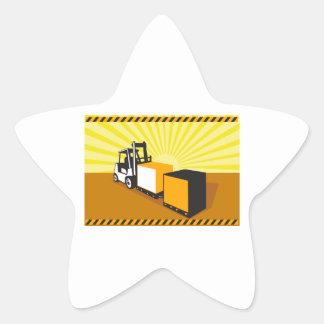 Manipulação de materiais do caminhão de adesivos estrelas