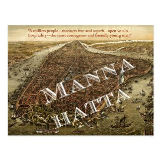 Mannahatta -- Cartão do Manhattan de Whitman