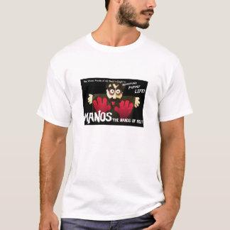 MANOS - As mãos do t-shirt de feltro