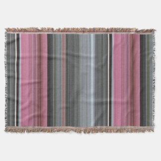 Manta #1 abstrato: Rosa e cinza