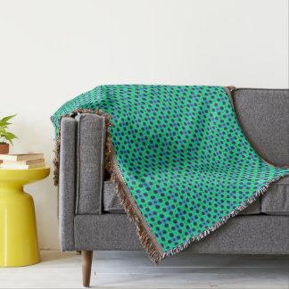 Manta Abstrato geométrico azul roxo verde
