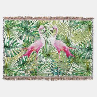 Manta Aloha animal do pássaro do flamingo na selva