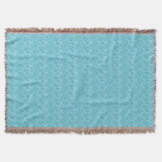 Manta Azul Prazer-Macio do vintage elegante
