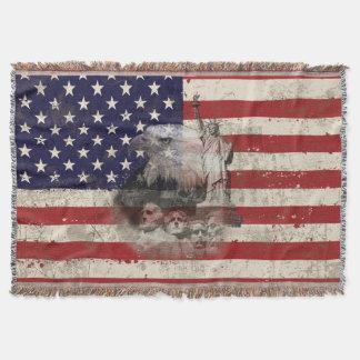 Manta Bandeira e símbolos dos Estados Unidos ID155