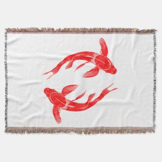 Manta Carpa vermelha dos peixes de Koi