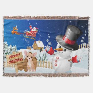Manta Chihuahua do Feliz Natal com gelado
