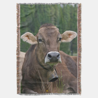 Manta Cobertura alpina do lance da vaca