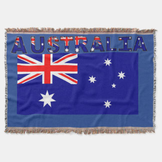 Manta Cobertura australiana do lance da bandeira