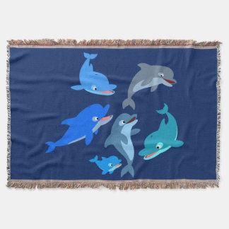 Manta Cobertura bonito do lance do vagem do golfinho dos